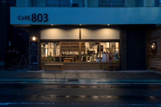 cafe803夜のライトアップ