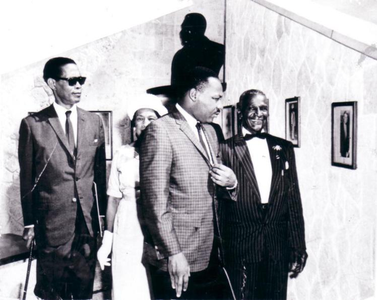 MLK at Marcus Garvey Shrine in Kingston Malcolm, Marcus, Marley and Martin