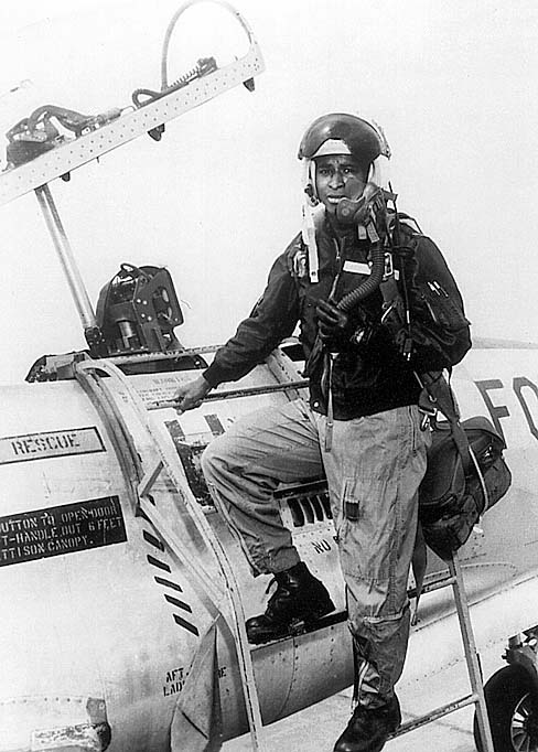 Depict Robert Henry Lawrence Jr. in the Air Force