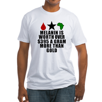 Marketing the Melanin is worth more than gold t-shirt