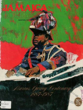 Cover of the Jamaica Journal with a painting of Marcus Mosiah Garvey by Heather Sutherland-Wade.