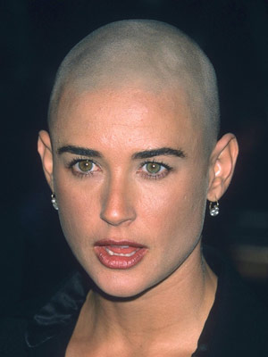 SEE PIC Demi Moore Gets Mohawk In Twitter Prank CelebsNow