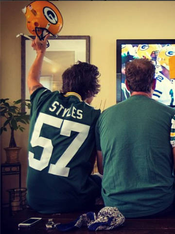Image result for harry styles green bay packers