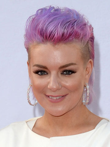OMG Sheridan Smith shows off new punky purple hair with