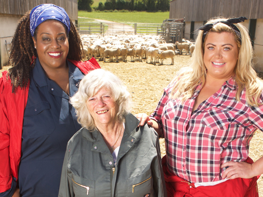 From Liberty Bell Productions SUGAR FREE FARM Tuesday 3rd January 2017 on ITV Pictured: (l-r) Alison Hammond Ann Widdecombe, and Gemma Collins. A brand new cast of famous faces will undergo a challenging dietary experiment: living entirely without sugar, refined carbohydrates, cheap meat, bad fats and all processed foods for 15 consecutive days, in the second series of ITVÕs Sugar Free Farm, set to air in January 2017. Stepping up to the sugar free plate include the fifth incarnation of Doctor Who and star of classic drama series All Creatures Great and Small, Peter Davison, former Conservative Party MP and StrictlyÕs very own twinkle toes, Ann Widdecombe, much loved comedian and King of the Jungle, Joe Pasquale, This MorningÕs resident showbiz reporter, Alison Hammond, reality TV star, best known for starring in TOWIE, Gemma Collins and BritainÕs Got Talent finalists, father and son dance duo, Stavros Flatley. © Liberty Bell Productions For further information please contact Peter Gray 0207 157 3046 peter.gray@itv.com This photograph is © Liberty Bell Productions and can only be reproduced for editorial purposes directly in connection with the programme SUGAR FREE FARM or ITV. Once made available by the ITV Picture Desk, this photograph can be reproduced once only up until the Transmission date and no reproduction fee will be charged. Any subsequent usage may incur a fee. This photograph must not be syndicated to any other publication or website, or permanently archived, without the express written permission of ITV Picture Desk. Full Terms and conditions are available on the website www.itvpictures.com