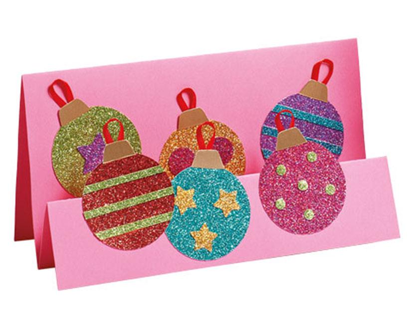 How To Make A Glittery Christmas Card
