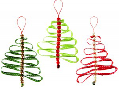 How To Make Ribbon Christmas Decorations