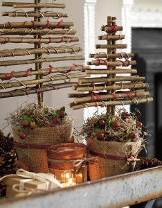 Christmas tree made with twigs also how to turn into chic decorations woman   weekly rh womansweekly