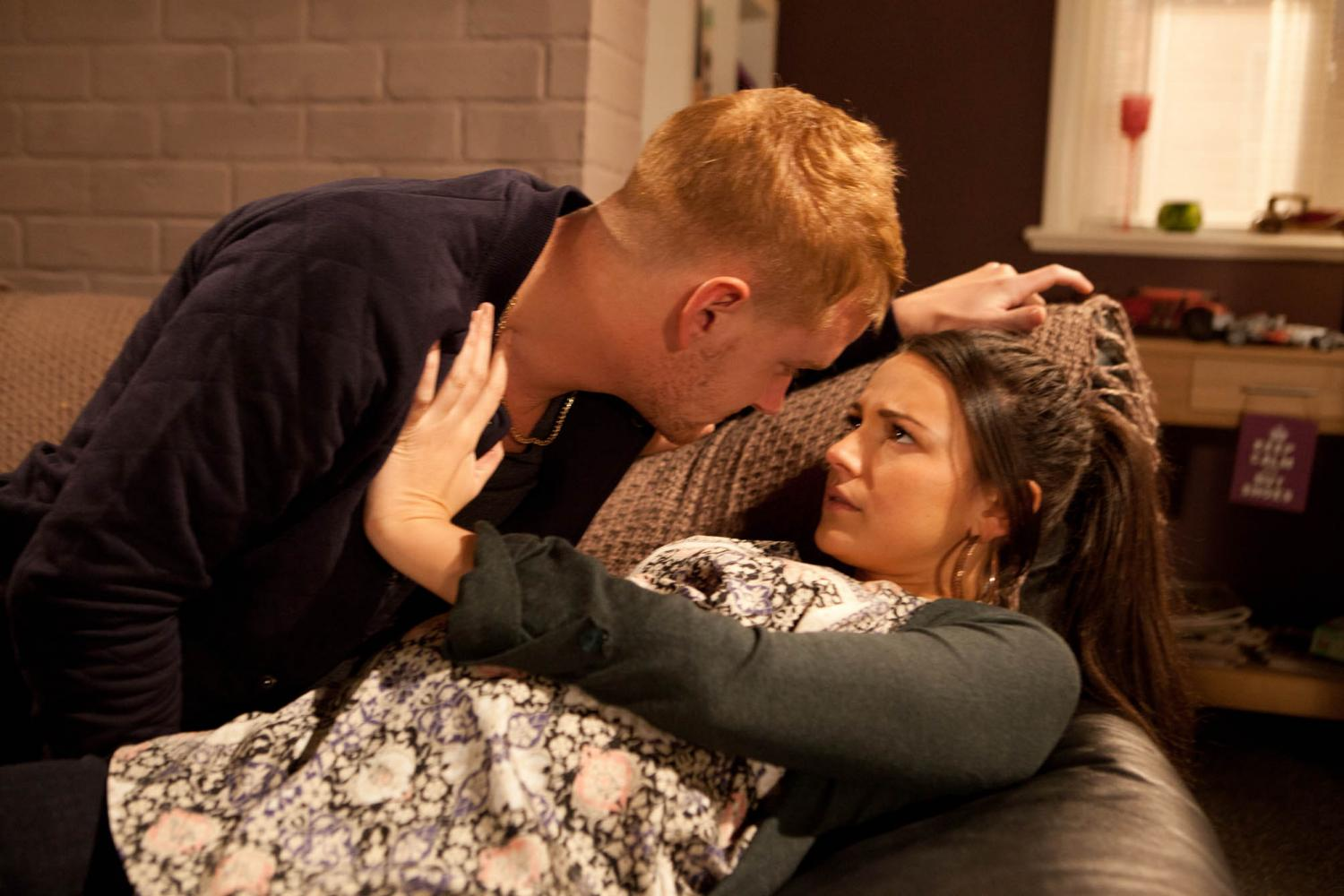 Flat Boots Girl Wallpaper Corrie S Mikey Tina Tells Gary To Kiss Off Photos