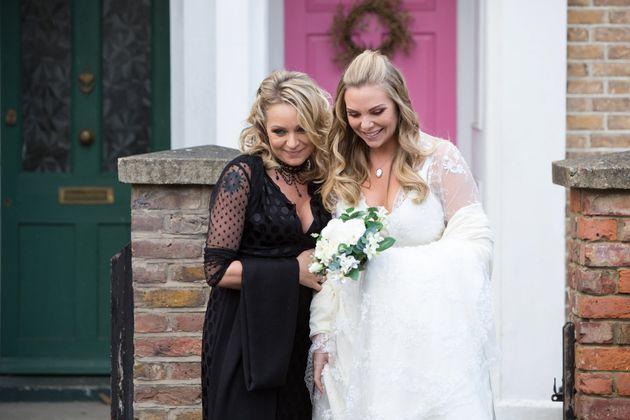 EastEnders Roxy Mitchell Ronnie Mitchell, wedding