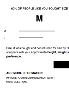 also zara sizes sorted thanks to their new online shopping tool rh look