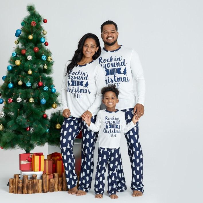 Christmas tree matching pyjamas
