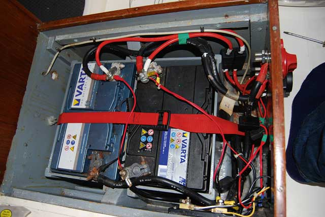 blue sea mini add a battery wiring diagram 1jz fse installing automatic charging relay acr practical boat owner and that s the completed with this switch are successfully installed
