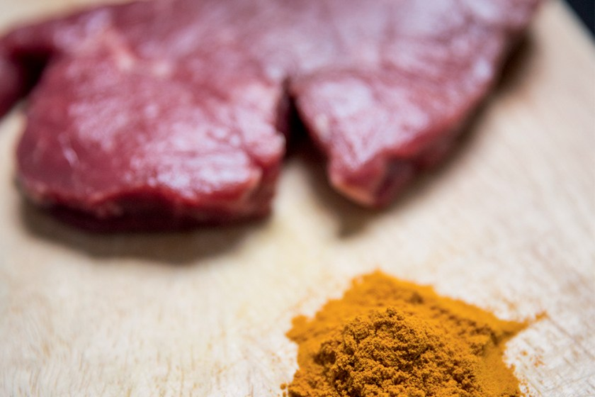 Beef provides iron, while turmeric fights inflammation