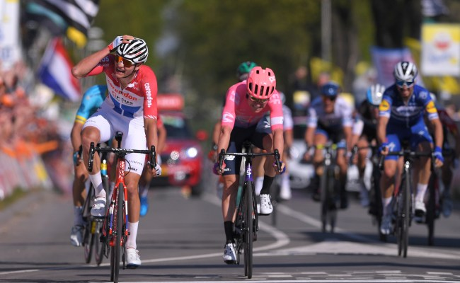 Mathieu Van Der Poel Ambushes Alaphilippe To Win Amstel