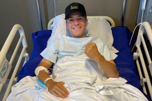 'My season is over but I'll come back stronger than before': Remco Evenepoel shares update for fans from his hospital bed in Belgium