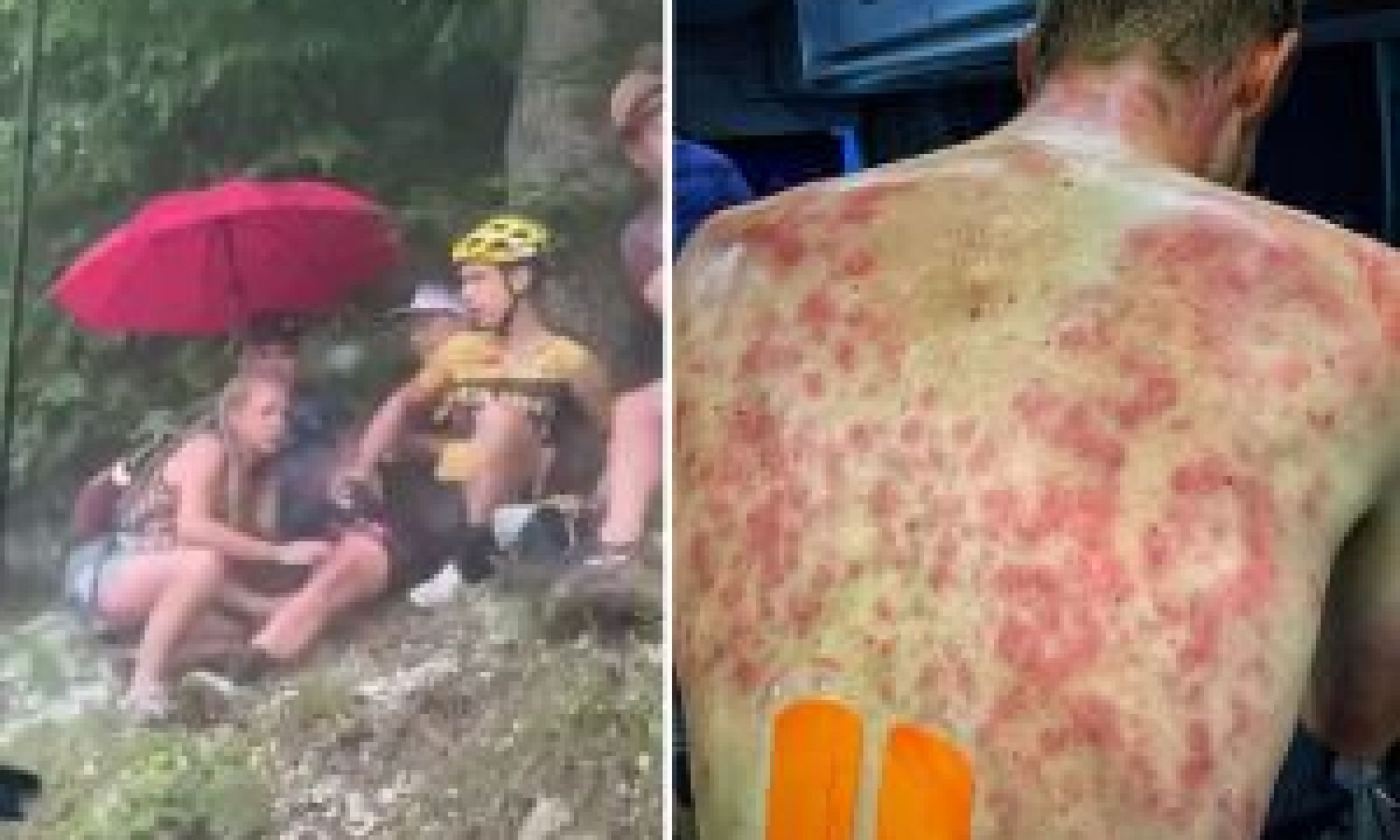 Riders forced under makeshift rafts as hailstorm batters Critérium du Dauphiné