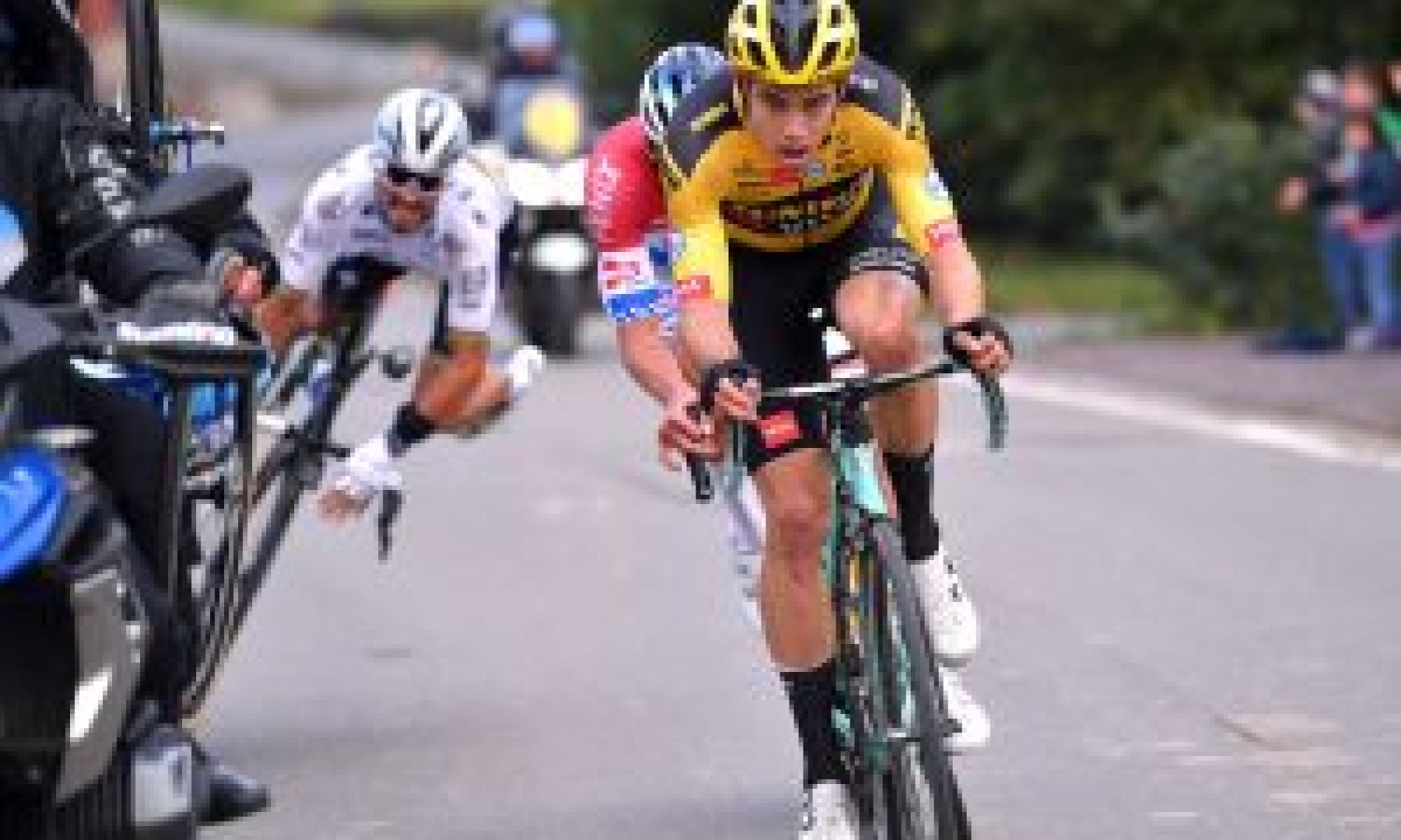Motorbike rider responds after incident that took Julian Alaphilippe out of Tour of Flanders 2020