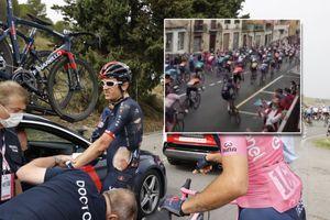 <div>Fan videos show Geraint Thomas' nasty crash at Giro d'Italia</div>