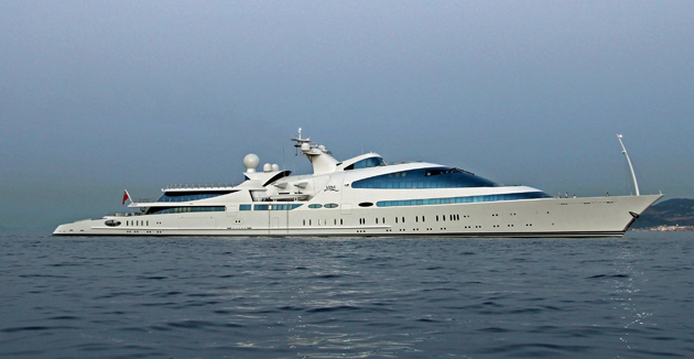 Spotted At Sea The Amazing 141 Metre Yas SuperYacht World