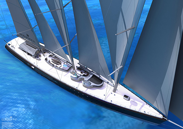 114 Metre Sailing Concept Endurance SuperYacht World