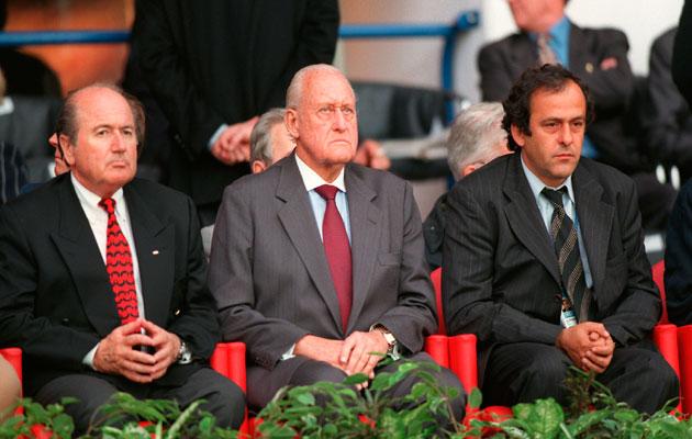 Sepp Blatter, Joao Havelange, Michel Platini