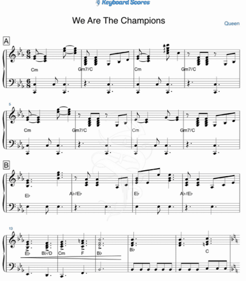We are the champions – Queen