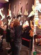 Sometimes we got pictures of people taking pictures. Actually, check out the cool custom ESP guitars.