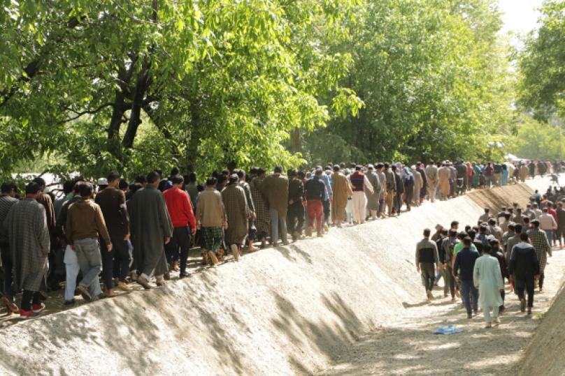 Funeral of HM militant Muzaffar Ahmad in Tahab pulwama