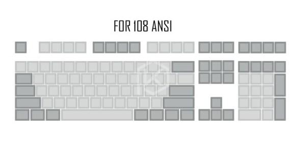 For 108 ANSI_dsa-pbt-trống-xam-nhạt-xam-keycaps-60-g_variants-0