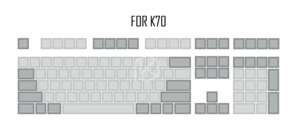 For Cosair K70_dsa-pbt-trống-xam-nhạt-xam-keycaps-60-g_variants-2