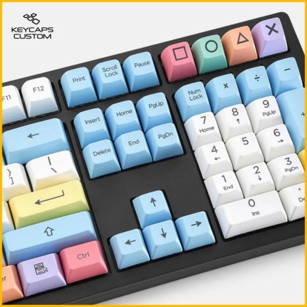 Thick-PBT-SA-Profile-Crayon-Chalk-on-keyboard-numbpad