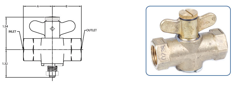 gas shutoff valves - adjustable