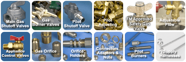 gas components and gas train products