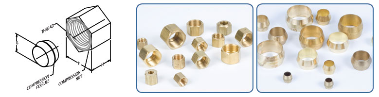 tube nuts - Compression Ferrule & Nut