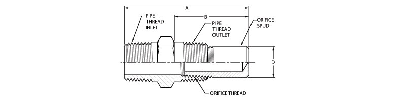 gas restrictor - pipe threaded inlet