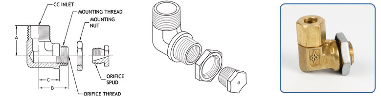 Compression Inlet - Orifice Spud Outlet