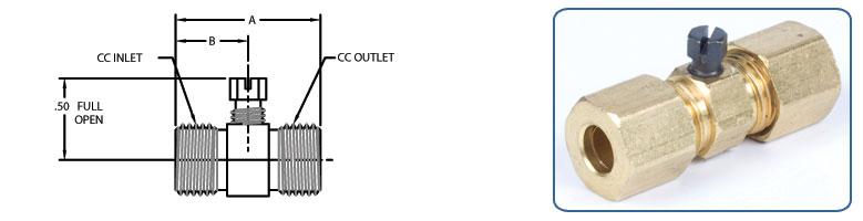 pilot adjusting valve