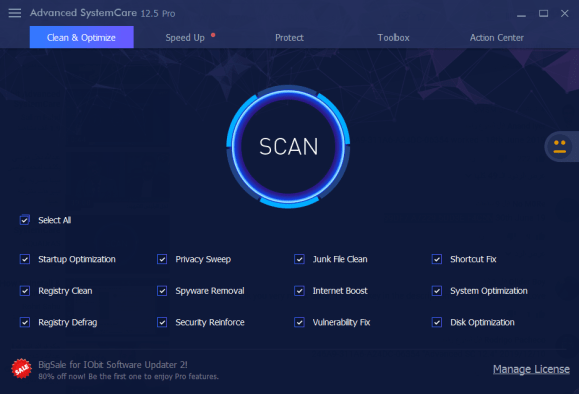 IObit Advanced SystemCare Pro 12.5.0.355 Key with Crack 2019 Free