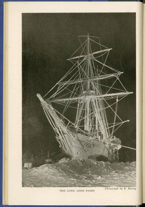 Sailing_ship_Endurance_trapped_and_crushed_by_ice_in_the_Antarctic,_1915_(exbt-ice-LongNight)