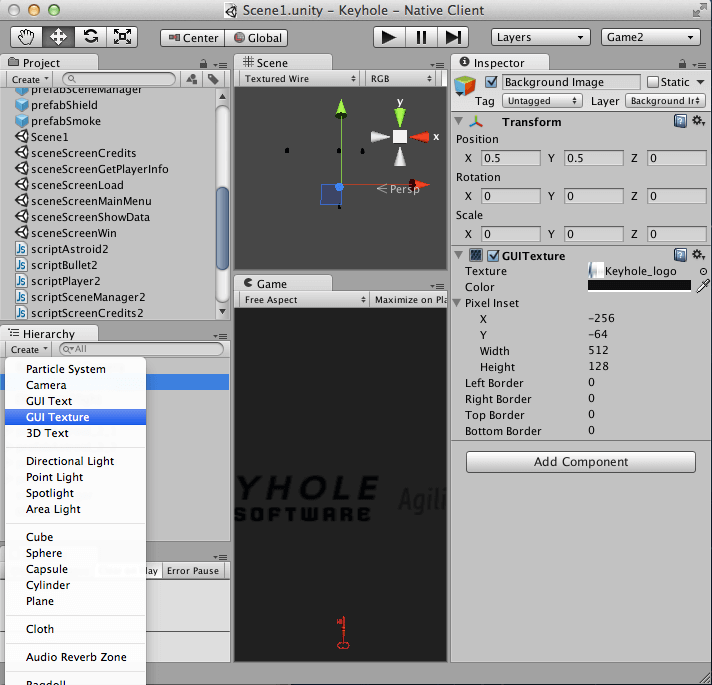 Writing Games With Unity 3D in JavaScript and C# – Part 1 | Keyhole