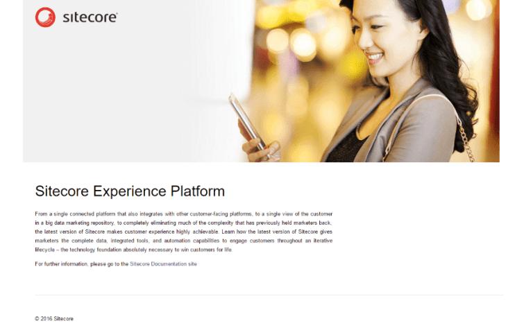 Sample Sitecore page