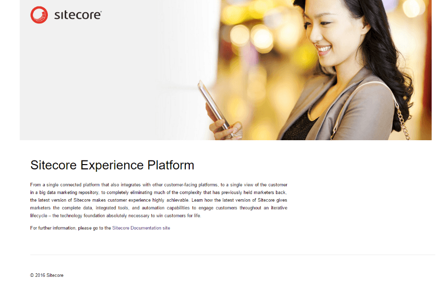 Sample Sitecore page