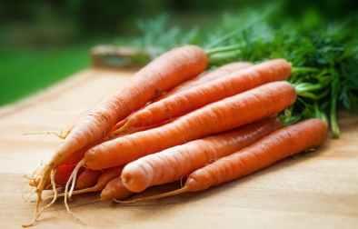 orange carrots on table
