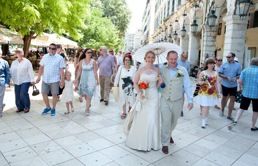 Elegant wedding in stylish Corfu Town