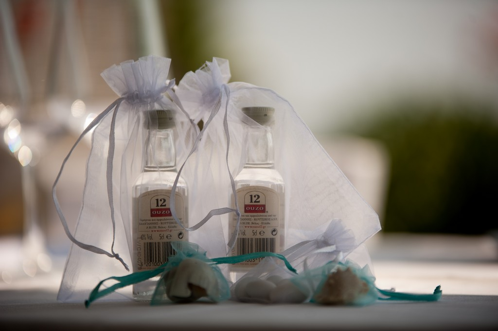 Corfu ouzo wedding favours