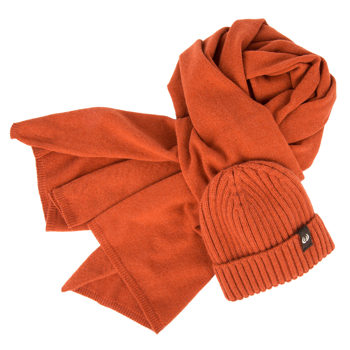 Keyler Set Winter Kaschmir Orange Mütze Schal Keylershop De