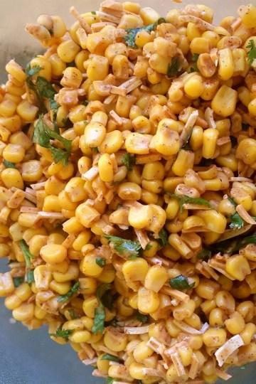 Finished vegan street corn salad