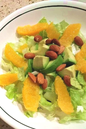 Orange Avocado Almond Spring Salad