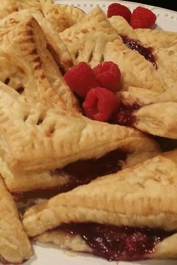 fresh raspberry hand pies
